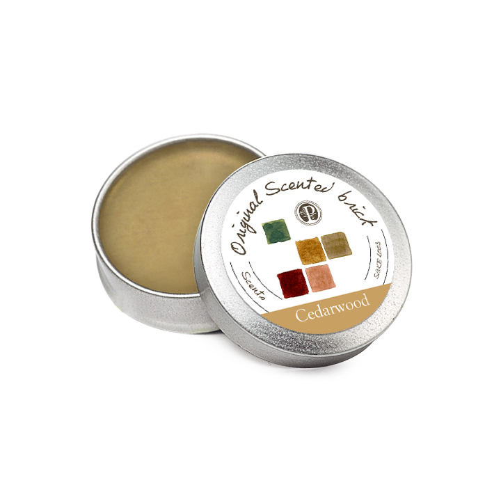 【OP 窩居小徑】Cedarwood 雪松林園 精油芳塊香磚-12g±2 隨身盒,純手工製作