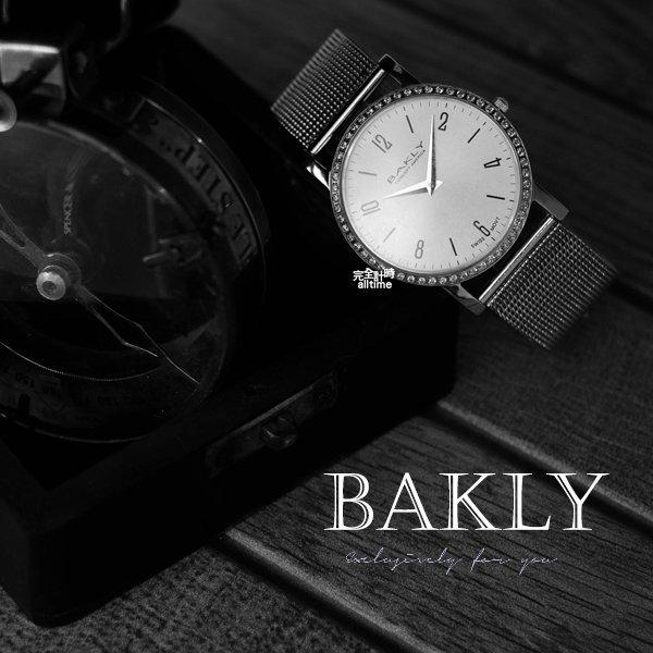【完全計時】手錶館│BAKLY 時尚簡約腕錶 數字款BAS6114-5/晶鑽 瑞士機芯藍寶石水晶鏡面 l 40mm