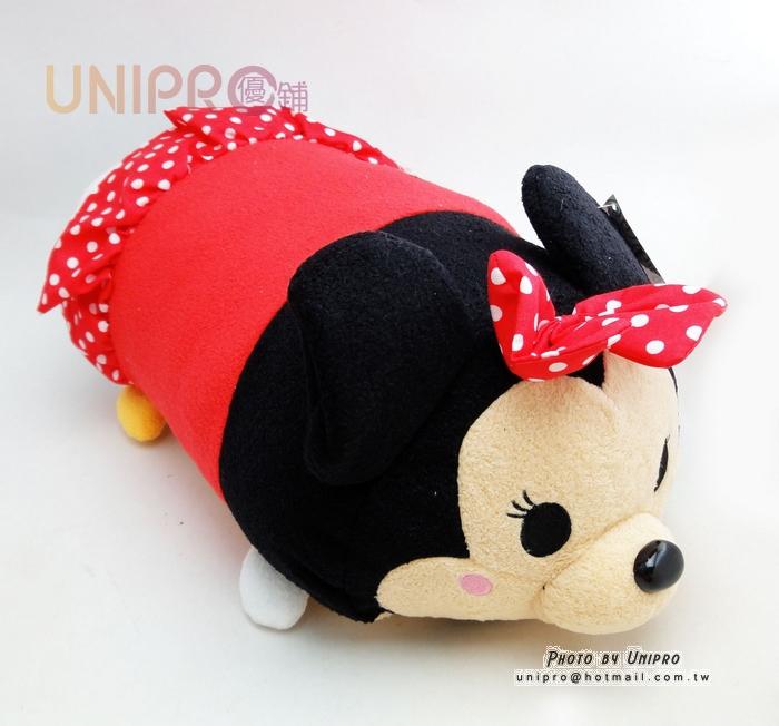 【UNIPRO】迪士尼 TSUM TSUM 疊疊樂 米妮 Minnie 圓柱 抱枕 靠枕 絨毛玩偶 禮物 正版授權