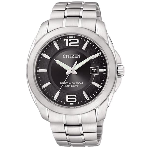 CITIZEN星辰BL1240-59E萬年曆超級鈦光動能腕錶/黑面40mm