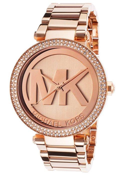 【MICHAEL KORS】正品 MK LOGO 玫瑰金 鑲鑽 計時 手錶 腕錶 MK5865
