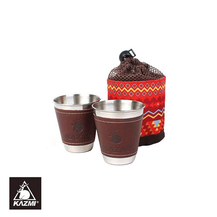 KAZMI 仿皮革不銹鋼杯K5T3K005/城市綠洲(戶外、露營、不銹鋼、民族風、杯)