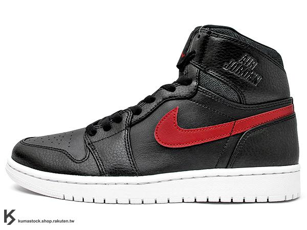 [37%OFF] 2015 最新 1985 年經典復刻款 九孔鞋洞 NIKE AIR JORDAN 1 RETRO HIGH RARE AIR BLACK RED BRED 男鞋 黑紅 黑紅白 皮革 鞋舌 貼布 AJ  (332550-012) !