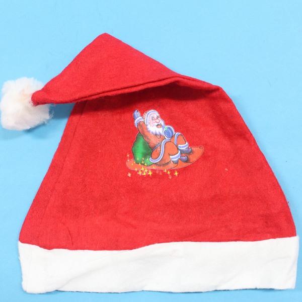 兒童印花聖誕帽 印花不織布兒童聖誕帽(兒童專用)/一頂入{定20}