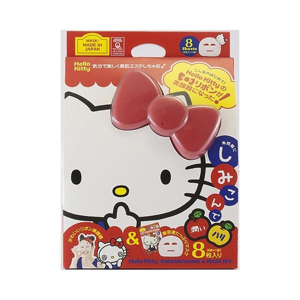 【真愛日本】16062400001日本製保濕面膜離子美顏器-紅結    KITTY 美容儀 美容器 預購