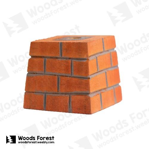 木雕森林 Woods Forest - 木雕筆專用單孔筆座【紅磚牆】( 造型可愛;小巧不佔空間!)