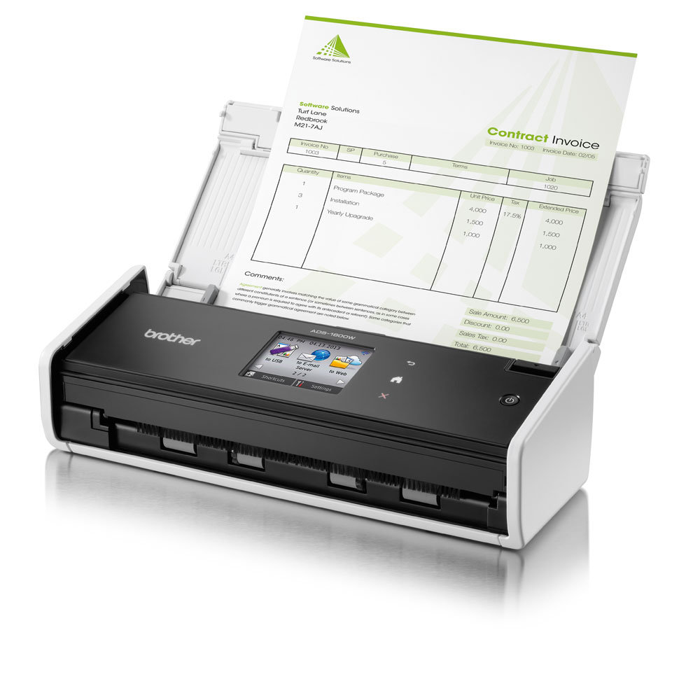 【免運*授權維修中心】brther ADS-1600W 高效智慧掃描(6.8cm彩色觸控螢幕) 另有ADS-1100W/ADS-2000/DS-620/DS-720D