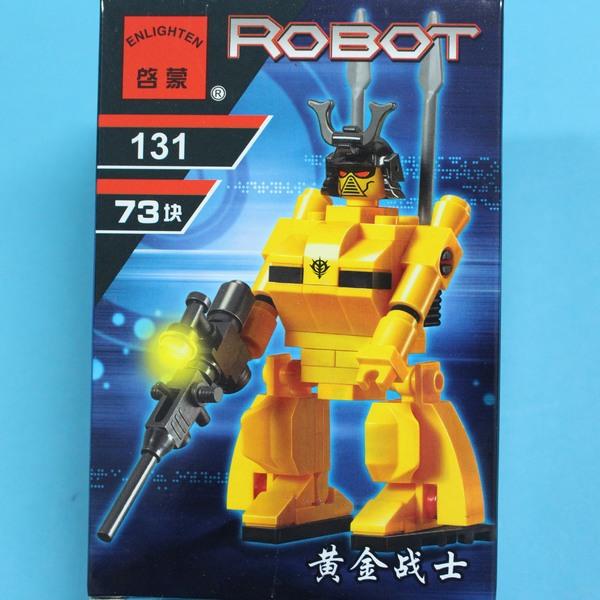 啟蒙積木 131 黃金戰士積木 約73片/一盒入{促80}~鑫