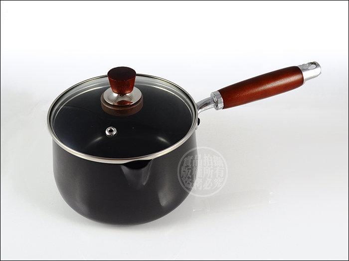 快樂屋♪日本 金太郎  陶瓷牛奶鍋.單柄湯鍋 16cm  附玻璃鍋蓋