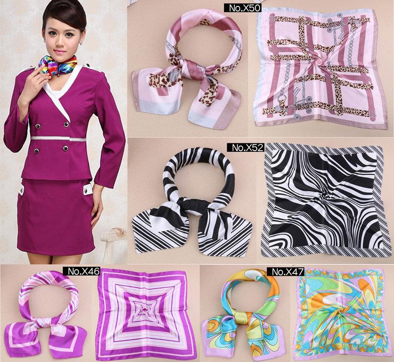 ★草魚妹★K850新款絲巾餐飲 空姐圍巾絲巾領巾,售價150元