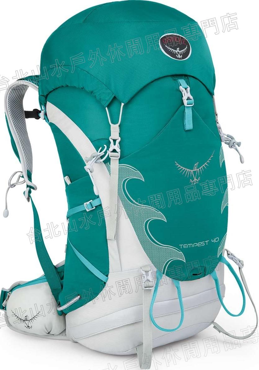 Osprey Tempest 40 登山背包/健行/旅遊/輕量後背包 女款碧綠/台北山水
