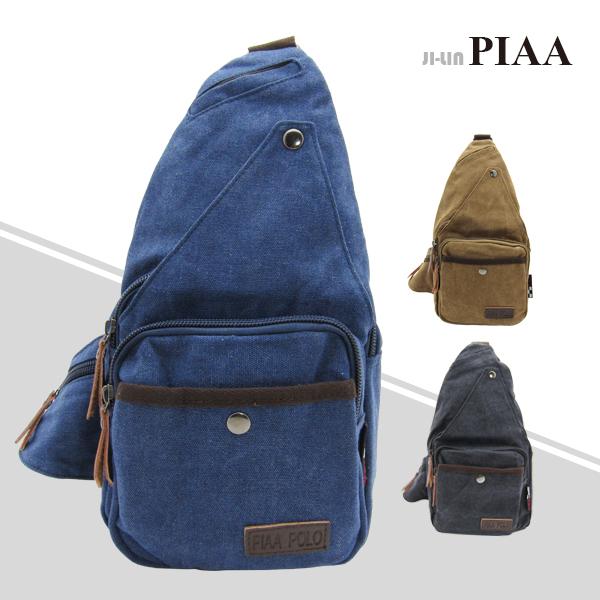 83-8595《PIAA 皮亞》韓式作風多口袋單肩背包 (三色)