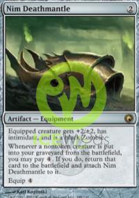 【Playwoods】MTG 魔法風雲會[SOM秘羅地創痕] 英文版 No.188 Nim Deathmantle濘族亡者頭罩R卡(金卡稀有神器)