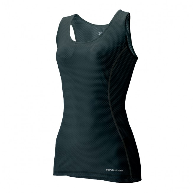 【7號公園自行車】日本 PEARL IZUMI W111-1 女酷黑涼感無袖內衣 排汗衣
