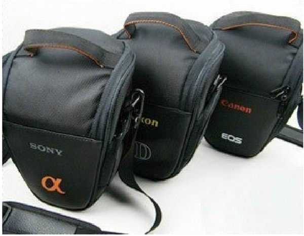 攝彩@Canon 佳能 Nikon 尼康 Sony 索尼 單眼 相機包 一機一鏡 三角包 槍包 輕便實用-20101