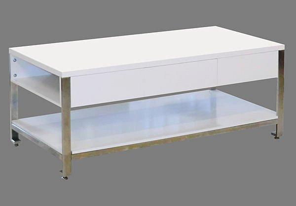【尚品家具】421-10 羅斯特 白色抽屜大茶几/長几/大几/客廳桌