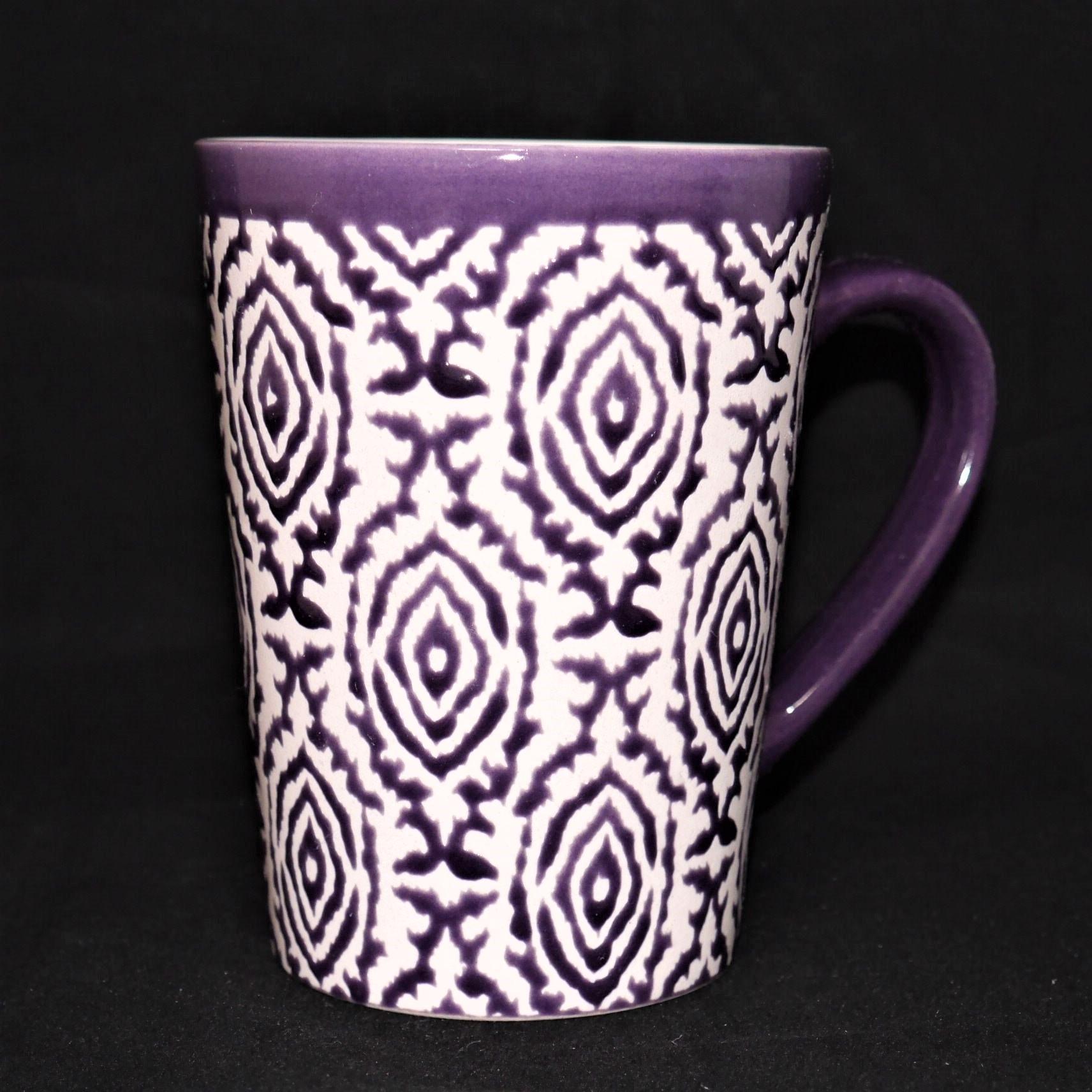 馬克杯紫色幾何紋500ml【曉風】