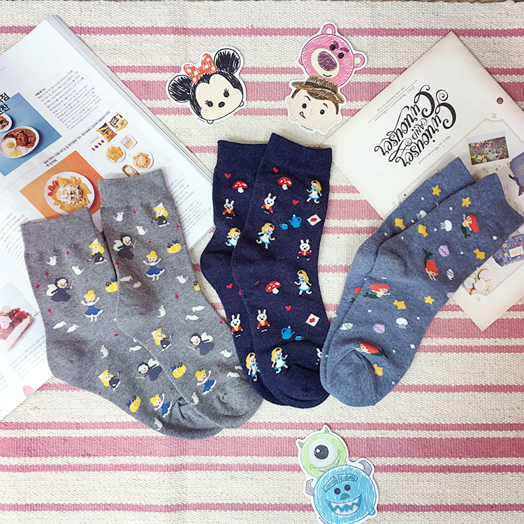 PGS7 迪士尼系列商品 - 正韓 迪士尼 Disney 公主 Princess 滿版 長襪 襪子 現+預 愛麗絲 愛麗兒 仙杜瑞拉