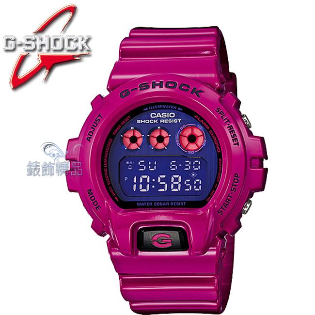 【錶飾精品】現貨CASIO卡西歐G-SHOCK時尚潮流 繽紛炫彩-鮮豔紫DW-6900PL-4正品DW-6900PL-4DR 全新原廠正品 生日 情人節 禮物 禮品