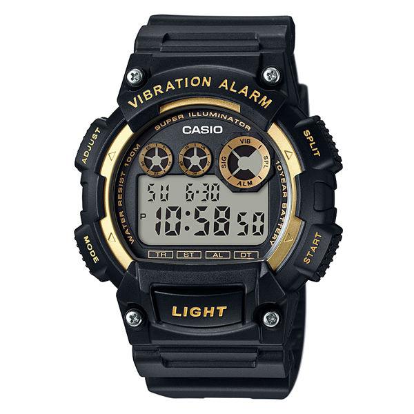 CASIO G-SHOCK W-735H-1A2黑金數位10年電力腕錶/47mm