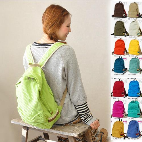 日本樂天熱賣款 anello 水洗糖果色雙肩包 書包 後揹包  帆布包 多色 /單售