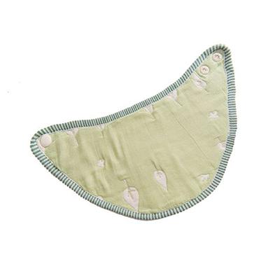 【悅兒樂婦幼用品舘】Hibou 六層紗三角口水巾圍兜-木與鳥