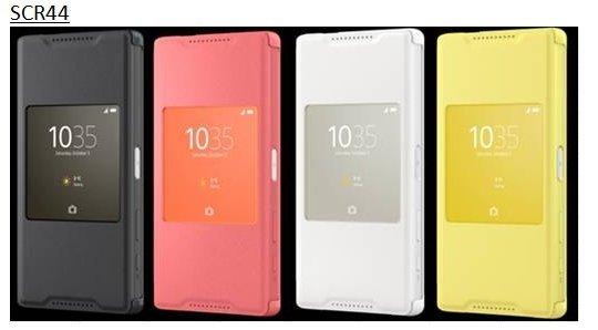 原廠皮套 SCR44 Sony Z5 Compact/視窗皮套/手機殼/保護套/保護殼/手機套/側掀套【馬尼行動通訊】