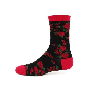 【玩襪WOW】PULOG懷舊復古玫瑰襪/穿搭我最復古