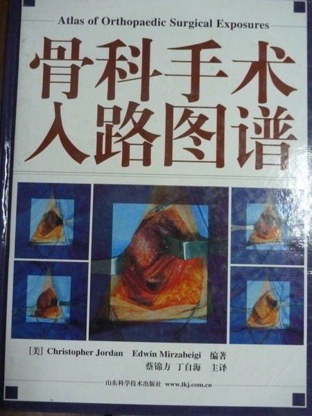 【書寶二手書T8/大學理工醫_PLM】骨科手術入路圖譜_Christopher Jordan