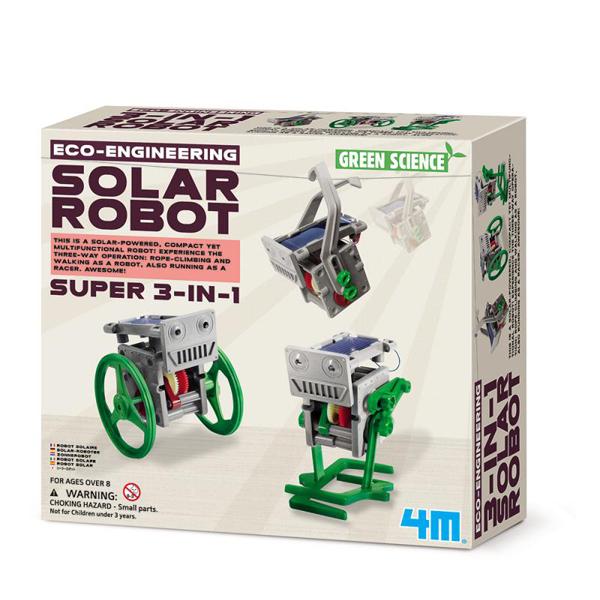 【4M 創意 DIY】00-03377 太陽能小幫手 3-in-1 Mini Solar Robot