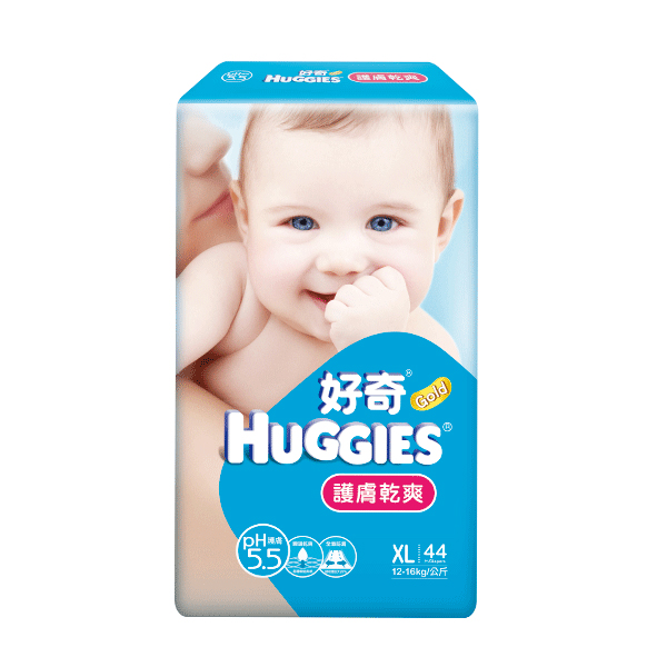好奇 PH5.5 護膚乾爽 紙尿褲 尿布 XL40+4 片/包
