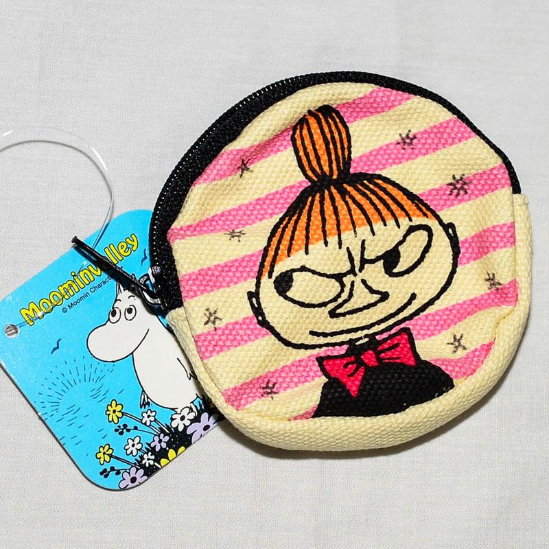 MOOMIN 嚕嚕米 小不點亞美 帆布 零錢包 日本正版商品