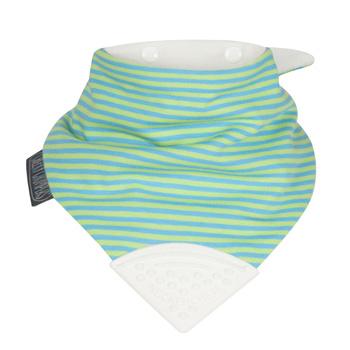 英國Cheeky Chompers咬咬兜 圍兜 口水巾 三角領巾 固齒器-【Uni Stripe-英倫雅痞】