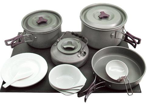 [ RHINO ] K-4 四人鋁合金套鍋 Cooking Set 陽極硬化處理/黑鋁
