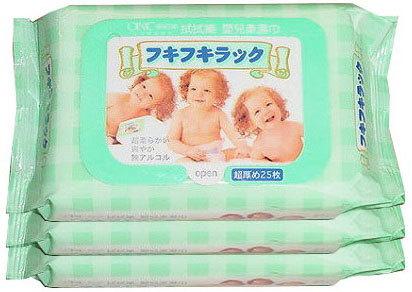 台灣【拭拭樂】嬰兒柔濕巾隨手包(25抽x3包)