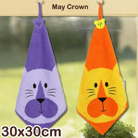 【esoxshop】高級精梳紗 純棉方巾 老虎款 擦手巾 May Crown