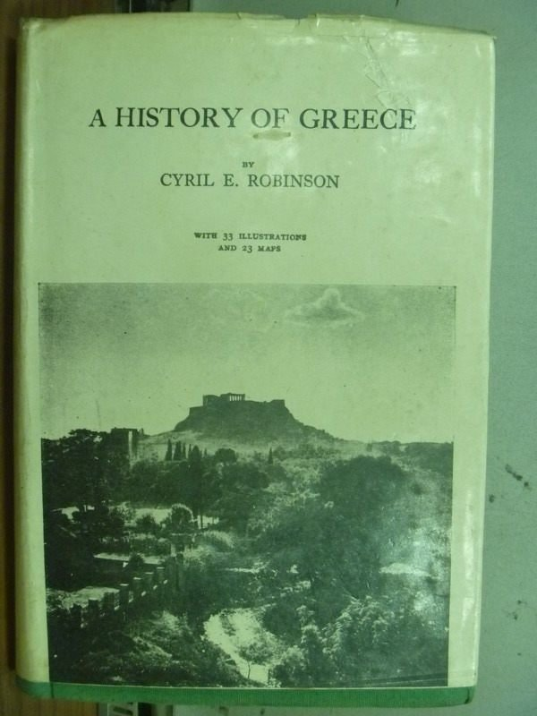 【書寶二手書T6/歷史_MOF】A History of Greece_民57