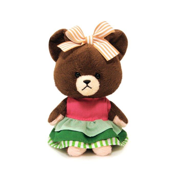 【禾宜精品】小熊學校 10 cm 傑琪 (洋裝) 吊飾 玩偶 療癒商品 生活百貨 B102032-E