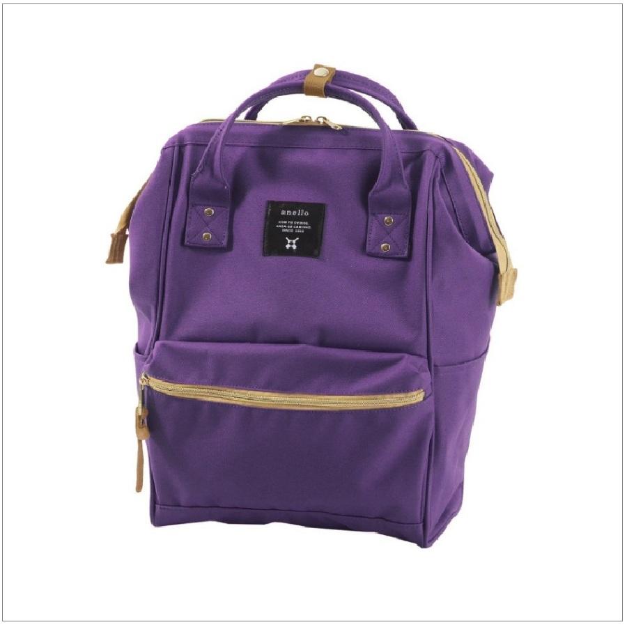 【醉愛·日本】Anello 帆布  紫色大尺寸後背包 日本款