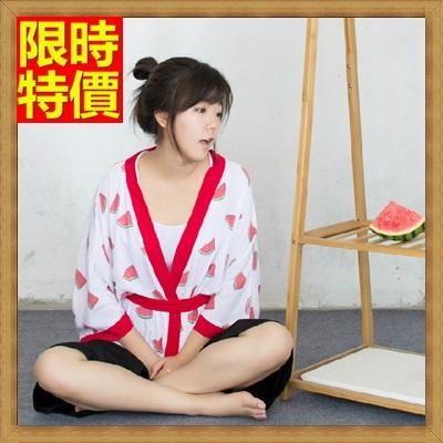 和服外套 和風女罩衫-日式復古可愛西瓜防曬小外套68af44【日本進口】【米蘭精品】