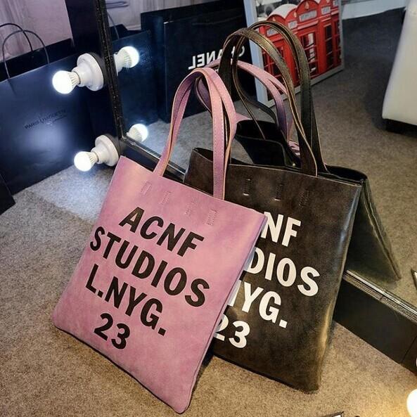 Anne&Alice包包購~日系原宿文字托特包側背包休閒包新款包~