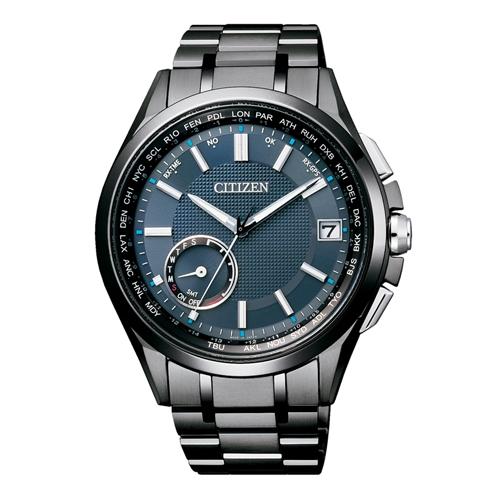 CITIZEN 星辰錶 CC3015-57L GPS衛星對時錶 40周年限定-藍黑/43mm