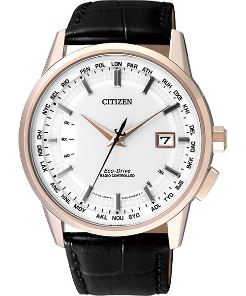 CITIZEN星辰CB0153-13A尊爵金電波光動能腕錶/白面44mm