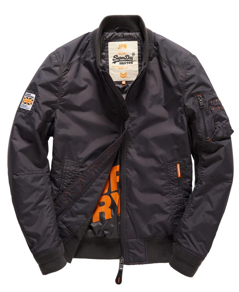 [男款]英國名品代購 極度乾燥 Superdry RSD Lite Pilot MA-1男士防水防風飛行外套夾克風衣 深灰色