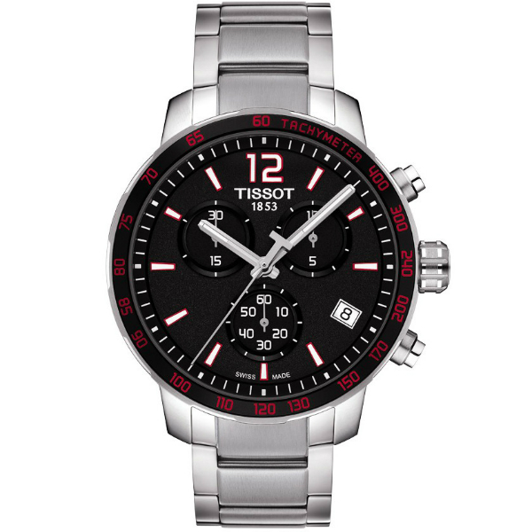 TISSOT天梭T0444172104100經典計時腕錶/黑面42mm
