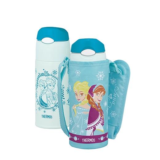 日本【Thermos】膳魔師不銹鋼真空保冷瓶-冰雪奇緣(冰雪藍)
