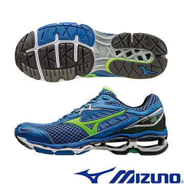 J1GC160141(藍X綠)全新旗艦款 WAVE CREATION 18 男慢跑鞋 A【美津濃MIZUNO】