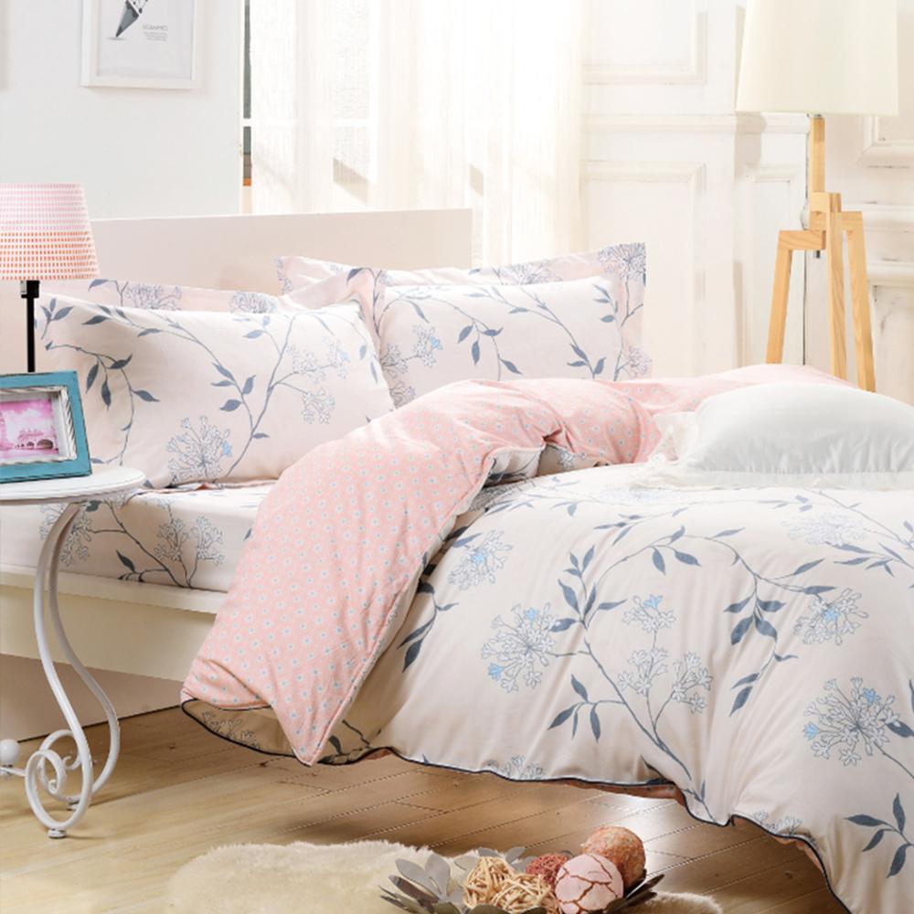 【鴻宇-HONGYEW】純棉系列/ikea風格/SPRING-雙人四件式薄被套床包組ML135803