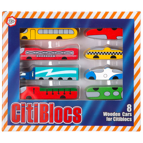 【美國CitiBlocs】骨牌創意積木-可愛車