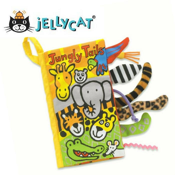 ★啦啦看世界★ Jellycat 英國玩具 / 叢林動物感官刺激布書